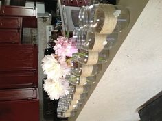 center pieces for the bridal shower... would fit the rustic theme of the location!