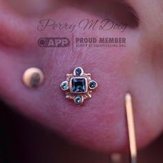 RAVINGS OF A SUBURBAN LUNATIC — Love piercing featuring a rose gold and AA London...