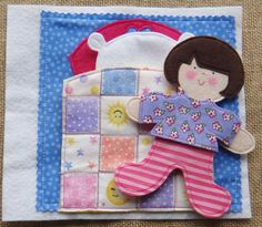 The quilt folds down so the doll can climb into bed