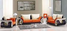 Modern Furniture 3 Piece Living Room Set Microfiber Seat and Back Cushions New!