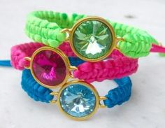 Macrame Bracelet With Swarovski Riv..