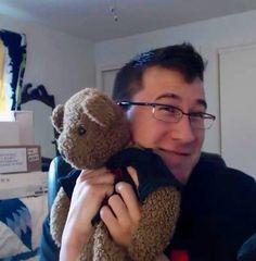 Markiplier with his teddy bear
