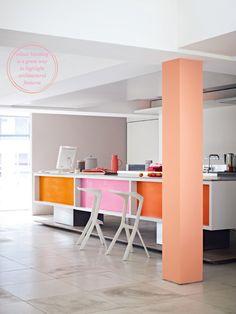sherbet kitchen! via @Bright.Bazaar /