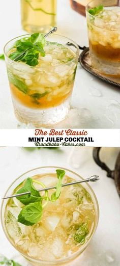Made with a homemade mint simple syrup and smoky bourbon, this classic cocktail is the perfect way to cool off for the Kentucky Derby or anytime this Spring. #mintjulep #kentuckyderby #cocktail #mint #mocktail #springcocktail Spring Cocktails, Easy Cocktails, Summer Drinks, Easy Desserts, Easy Dinner Recipes, Sweet Recipes, Dessert Recipes, Summer Recipes, Delicious Recipes