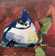 Blue Jay no. 50 Original Oil Painting by Angela Moulton