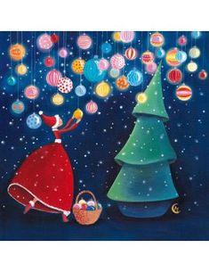 """Carte de Noël """"La Décoration du Sapin"""""""