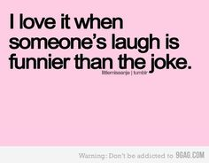 My laugh is funny & loud! lol I love to laugh. I did develop a sense a humor as a kid.It's only the best when you laugh so hard your stomach hurts. Silly Quotes, Great Quotes, Me Quotes, Inspirational Quotes, Happy Quotes, Random Quotes, Funny Sayings, Motivational, The Words