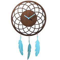 NeXtime Wooden Dreamcatcher Wall Clock