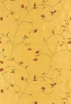 Fabric | Landice Vine Embroidery in Vintage Floral | Schumacher