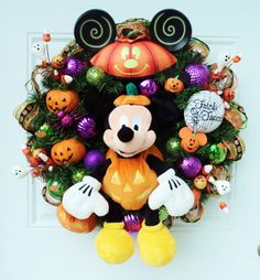 Halloween Disney Wreath Mickey Mouse