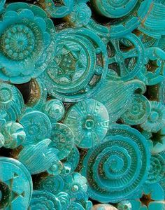 Turquoise | Aqua | Teal | art, stabile, sculpture thingy