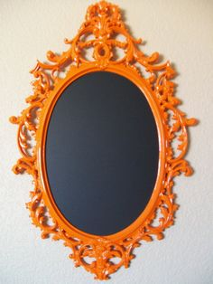 Mirror With Frame Orange