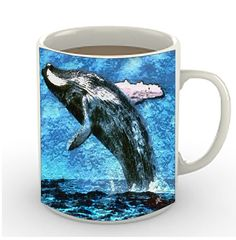 Humpback Whale - Ceramic Coffee/Latte Mugs by DoggyLips  - in 2 sizes by DoggyLips on Etsy