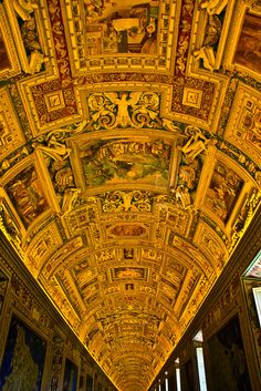Ceiling In The Vatican Museum by Gallery North, via Flickr