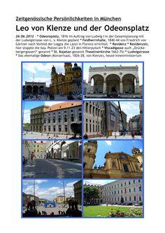 münchner spaziergänge: Leo von Klenze und der Odeonsplatz