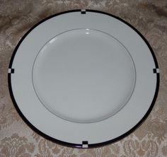 1 dinner plate midnight by mikasa l5542 japan fine china black u0026 white