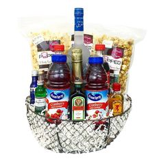 Our exclusive Grey Goose Vodka Gift Basket is available for same day delivery in Las Vegas, NV. Featuring a Grey Goose Premium Vodka Bottle, Cocktail Mixers, and gourmet snacks. Alcohol Gift Baskets, Liquor Gift Baskets, Themed Gift Baskets, Birthday Gift Baskets, Raffle Baskets, Wine Baskets, Basket Gift, Fundraiser Baskets, Vodka Gifts