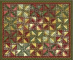 Wheels in a Spin quilt layout