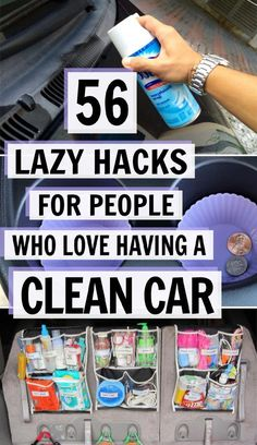 car organization ideas These 56 lazy car cleaning hacks are THE BEST! Im so glad I found these GREAT great cleaning and organization tips! Now I have great ways to keep my car clean and tidy! Diy Car Cleaning, Household Cleaning Tips, House Cleaning Tips, Diy Cleaning Products, Car Interior Cleaning, Cool Diy, Diy Auto, Car Care Tips, Clean Your Car