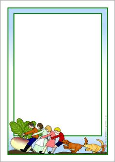 The Enormous Turnip A4 page borders (SB6355) - SparkleBox