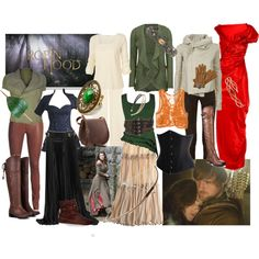 """My second wardrobe plot for Marian from the BBC's """"Robin Hood - Bri (b-scottyer on Polyvore)"""