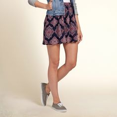 Girls Chiffon Skater Skirt | A flirty, statement skirt with a mesh lace layer, finished with a skater silhouette | HollisterCo.com