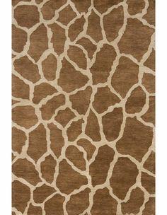 Serengeti Giraffe Print Rug in Copper $179