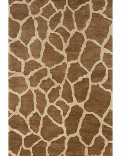Serengeti Giraffe Print Rug in Copper $179