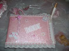 Baby Shower Guest Book by MarisDeco on Etsy, $15.00