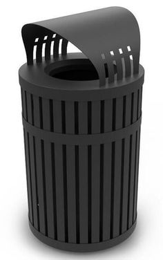 45 Gallon ArchTec 72830199 Parkview 3 Covered Trash Can for Outdoor Use