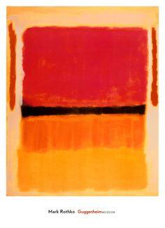 Rothko Mark - Rothko Mark -Ohne Titel (Violett, Schwarz, Orange, Gelb auf Weiß und Rot), ca. 1949  -26''x36''