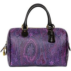 ETRO Color Paisley Print Pvc Top Handle ($880) found on Polyvore Purple Love, All Things Purple, Shades Of Purple, Deep Purple, Purple Stuff, Purple Purse, Purple Bags, Color Violeta, Purple Accessories
