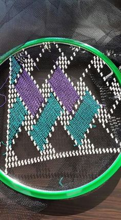 Hardanger Embroidery, Hand Embroidery, Weaving Patterns, Lotus Design, Bargello, Plastic Canvas Patterns, Needlework, Coin Purse, Embroidery