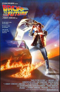 Back to the Future is a 1985 American comic science fiction film. It was directed by Robert Zemeckis, written by Zemeckis and Bob Gale, produced by Steven Spielberg, and stars Michael J. Fox, Christopher Lloyd, Lea Thompson, Crispin Glover and Thomas F. Wilson. Fox plays Marty McFly, a teenager who is sent back in time to 1955. He meets his future parents in high school and accidentally becomes his mother's romantic interest.