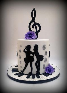 Dancing Silhouettes - Cake by Nessie - The Cake Witch