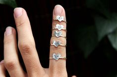 5 Bridesmaid Gift Rings Personalized by DreamingTreeCreation