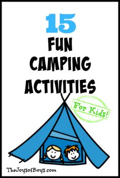 Fun Camping Activities for Kids 15 Fun Camping Activities your kids will LOVE! Make your next camping trip the best one Fun Camping Activities your kids will LOVE! Make your next camping trip the best one yet. Camping Checklist, Camping Hacks, Camping Bedarf, Retro Camping, Camping Parties, Camping Theme, Camping Essentials, Family Camping, Camping Ideas