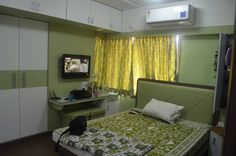 """Kumar Interior –  Specialized in Residential Interiors!!  """"Interiors that change your lifestyle""""    Home Interior Designers in Thane – Mumbai call 9987553900  #bedroom #design #walldrop #bedroomdesign #thane #mumbai"""