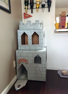 Cat on a Hot Cardboard Roof: DIY Inspiration for Cardboard Cat Houses   Apartment Therapy