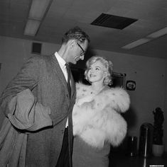 "Marilyn and Arthur Miller leave New York for Los Angeles to film ""Let's Make Love"", November 2nd 1959."