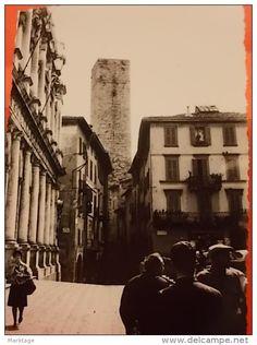 Bella foto anni 60 7X10 Bergamo alta vicino piazza vecchia - Delcampe.it