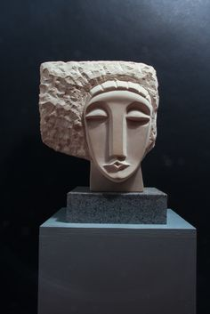 """Cabeza"" - Hand carved Maltese limestone"