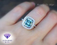 Diamond Alternatives, Thing 1, Blue Cushions, Custom Jewelry Design, Moissanite, Diamond Engagement Rings, Sapphire Rings, Jewelry Shop, Gold