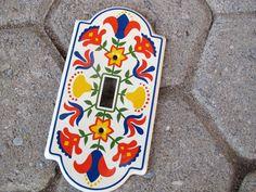GE Artistry Folk Art Light Switch Cover / by SandrasCornerStore