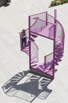 This installation created for Porto is all stairs and balconies.