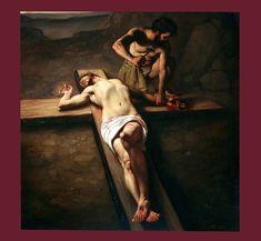 Nel quinto Mistero Doloroso si contempla...Roberto Ferri - The 11th Station of the Cross
