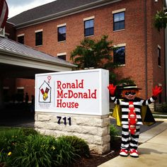 The Hamburglar at the Columbus Ronald McDonald House!
