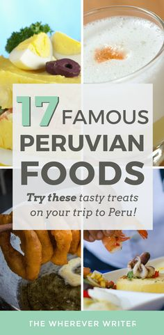 Peru is one of the best countries in the world for culinary delights. So what are some typical foods in Peru? Here are some famous Peruvian foods you should try Peruvian Cuisine, Peruvian Recipes, Peru Travel, Hawaii Travel, Thailand Travel, Italy Travel, International Recipes, Foodie Travel, Yummy Treats