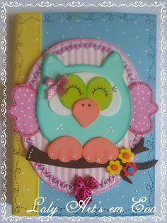 Caderno pequeno decorado em eva....