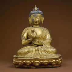 Maitreya Gilt copper with polychrome and semiprecious stones Tibet height 19 in. (48.3 cm) 18th century Estimate 8,000 — 12,000 USD